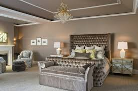 tufted sleigh bed in bedroom contemporary with tufted bed next to