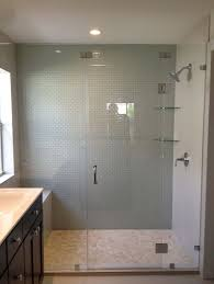 bathroom folding frameless glass shower door for large shower