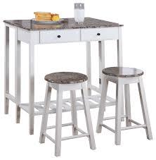 kitchen island set 3 kitchen island set drop table and 2 stools white