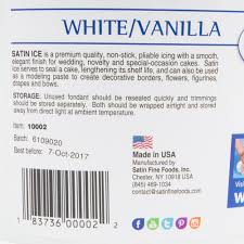satin ice 10002 5 lb white vanilla rolled fondant icing