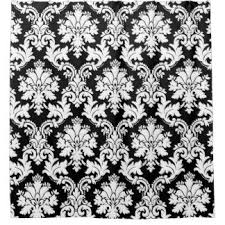 Black And White Damask Curtain Pretty Shower Curtains Zazzle