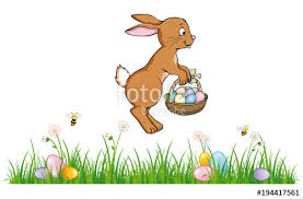 rabbit banner jumping easter bunny banner stock image and royalty free