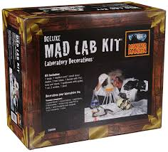 amazon com mad scientist lab kit halloween haunted house prop