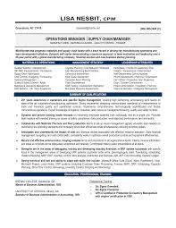 Sample Resume For Manager by Senior Logistic Management Resume Senior Manager Supply Chain