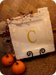 monogrammed plate diy monogrammed plates crafthubs