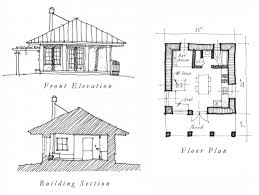 Cabin Plans by One Room House Plans Free Plan Floor Plans Pinterest
