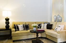 contemporary sofa seating area beautiful interior design stock
