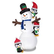 Inflatable Outdoor Christmas Decorating Small Baby Snowman by Buy Outdoor Holiday Inflatables From Bed Bath U0026 Beyond