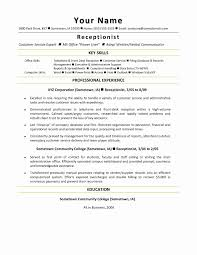 exle of an excellent resume resume sle for receptionist best of receptionist