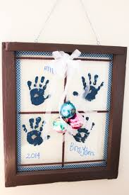 handprint windowpane the perfect christmas gift for grandparents