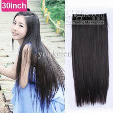 24 inch hair extensions 30inch 24inch synthetic 5 clip in hair extension black