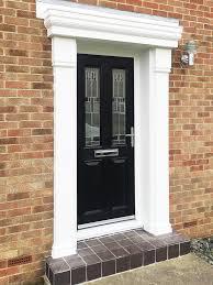 front door glass designs a classical look with a modern twist black composite door with