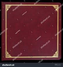 Leather Picture Album Photo Album Coverred Leather Gold Trim Stock Photo 16364068