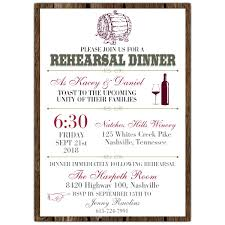 rehearsal dinner invitation wine barrel rehearsal dinner invitations paperstyle