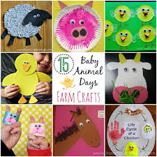 15 baby animal days farm crafts for kids i heart crafty things