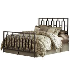 iron bed sleek contemporary design coffee finish