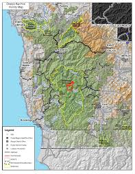 Fire Map Oregon by Northwest Interagency Coordination Center 8 18 2017 Chetco Bar Update