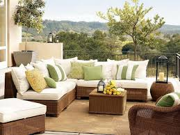 Pottery Barn Patio Table Outdoor Furniture Patio Design Using Wicker Sofa By Seagrass
