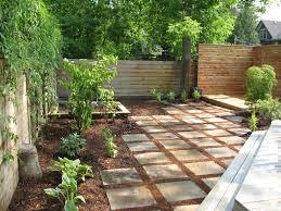 Paving Ideas For Gardens Backyard Paver Ideas Landscape Modern With Bark Mulch Japanese