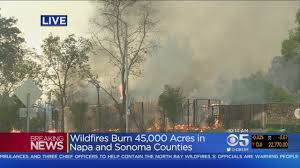 North Bay Fire Report by Santa Rosa Hilton Hotel Engulfed In Flames From Tubbs Fire Youtube