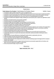 How To Make A Job Resume Samples by Public Relations Vice President Resume Sample Velvet Jobs