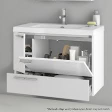 modern 31 inch bathroom vanity set with ceramic sink larch