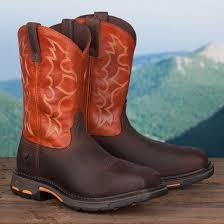 ariat s boots size 12 steel toe orange top work boot
