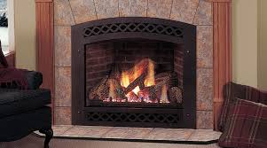 granite stone wall gas fireplace repair under wall mirror front