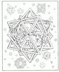 coloring page with volcano and abstract pattern hand drawn graphic