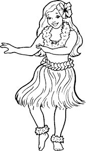 hawaiian hula dancers coloring pages hula dancer black and white