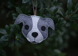 free pattern felt pit bull ornament sewing