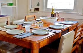 Dining Table With Food Food With Friends Knitting In The