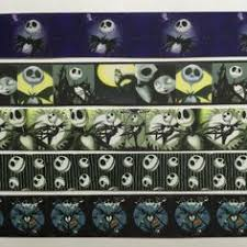 nightmare before christmas ribbon army navy grade webbing dog collar embellished with sewn on
