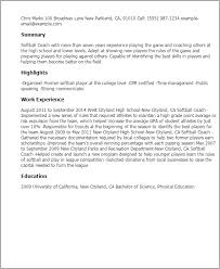 Career Coach Resume Sample by Professional Softball Coach Templates To Showcase Your Talent