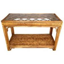 Rattan Console Table Rattan Console Tables 20 For Sale At 1stdibs