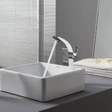 Sink Bowl Bathroom Vessel Sink And Faucet Glass Bathroom Basins Black