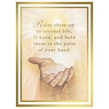 in the palm of his mass card catholic mass cards mass cards