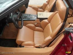 1989 corvette convertible saddle interior 1989 chevrolet corvette convertible photo