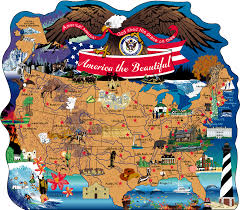 Map Of United States Of America by America The Beautiful Map The Cat U0027s Meow Village