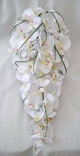 wedding flowers orchids artificial wedding flowers brides teardrop bouquet in white