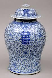 Blue And White Vases Antique Chinese Porcelain Lidded Vase Circa 1800