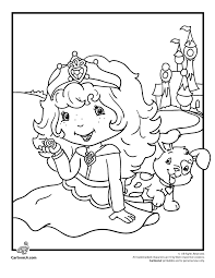 strawberry shortcake happily ever after coloring page cartoon jr