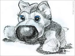 cute stuffed toy puppy sketch