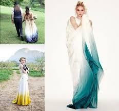 different wedding dresses hint of color or dip dye bridal dress 22 most unique non