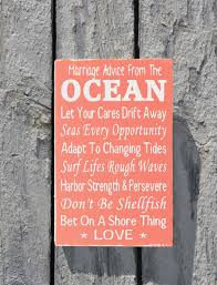 Love Quotes Marriage by Marriage Advice From The Ocean Couples Wedding Gifts Beach