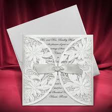 Silver Wedding Invitations Wedding Invitation Cards Silver Laser Cut Card Buy Wedding