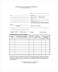 Submittal Cover Sheet Template Sle Submittal Transmittal Form 7 Documents In Pdf Word