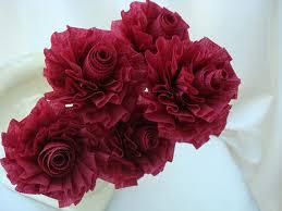 burgundy roses wedding crepe paper roses cranberry roses burgundy roses