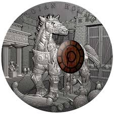 world exclusive superb new trojan horse silver coin debuts from