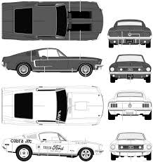 1968 mustang dimensions the blueprints com blueprints cars ford ford mustang gt 1968